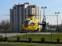 Plaza Medical Center Heliport (XA37) - Helo on the new pad. - by Zane Adams