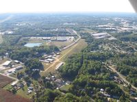 Darr Field Airport (NC03) - looking west - by Tom Cooke