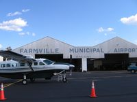 Farmville Regional Airport (FVX) - Farmville hangar - by Tom Cooke