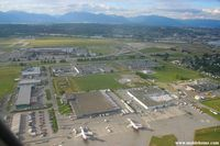 Vancouver International Airport, Vancouver, British Columbia Canada (YVR) - The Vancouver IAP seen suring take-off. The main fret area can be seen at the bottom of the picture with 2 Boeing 727 from Purolator - by Michel Teiten ( www.mablehome.com )