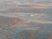Anderson Muni-darlington Field Airport (AID) - From 4500' on a frosty fall morning - by Bob Simmermon