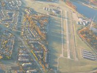 Eagle Creek Airpark Airport (EYE) - From 4500' on a frosty fall morning - by Bob Simmermon