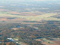 Terre Haute Intl-hulman Field Airport (HUF) - From 4500' on a frosty fall morning - by Bob Simmermon