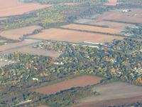 Sky King Airport (3I3) - From 4500' on a frosty fall morning - by Bob Simmermon