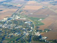 Casey Municipal Airport (1H8) - From 4500' on a frosty fall morning - by Bob Simmermon