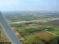 Neosho Hugh Robinson Airport (EOS) - Looking west from 4500' - by Bob Simmermon