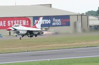 RAF Fairford Airport, Fairford, England United Kingdom (FFD) - Thunderbirds practice at Royal International Air Tattoo 2007 - by Steve Staunton