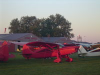 Antique Airfield Airport (IA27) - Dawn at Antique Airfield during the 2007 National AAA/APM Fly-in - by William Weyers