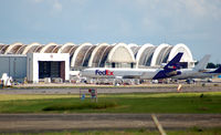 Rafael Hernandez Airport (BQN) - cargo termminal bqn with Fedex md-11 - by Angel Duran BQN Spotters