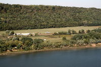 Lee Bottom Airport (64I) - Over the Ohio River Looking West - by Wil Goering