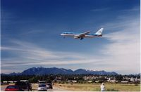 Vancouver International Airport, Vancouver, British Columbia Canada (YVR) - KLM B767 from AMS,Jul.2002.Taken at the Templeton Rd. spotting area - by metricbolt