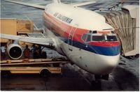 San Francisco International Airport (SFO) - Air California B737 in basic UAL livery,1980s - by metricbolt