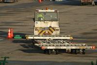 Brussels Airport, Brussels / Zaventem  Belgium (EBBR) - waiting for palettes - by Daniel Vanderauwera