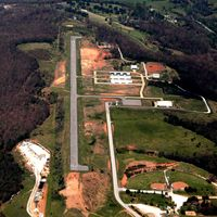 Huntsville Municipal Airport (H34) - Aerial Photo - by Arkansas Department of Aeronautics
