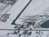 Shelby Community Airport (12G) - Closer view of the ramp & buildings - by Bob Simmermon