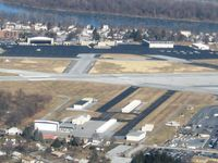 Capital City Airport (CXY) - View of the ramp - by Bob Simmermon