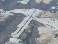 Wheeling Ohio Co Airport (HLG) - Snow covered runways in Wheeling, WV - by Bob Simmermon
