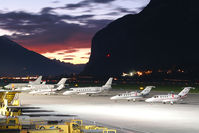 Innsbruck Airport, Innsbruck Austria (LOWI) - GAC of INN/LOWI at sunset - by Thomas Ramgraber-VAP