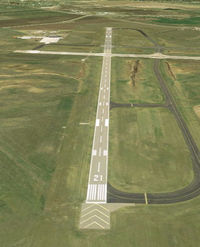 Bismarck Municipal Airport (BIS) - BIS Runway 21 - by Joe Zirbes
