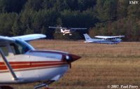 Emporia-greensville Regional Airport (EMV) - All three of the 172s on the field at the time: N739XL, N447SP, and N3030U - by Paul Perry