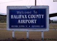 Halifax County Airport (RZZ) - Can't miss the sign, its at the end of the road - by Paul Perry