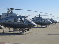 Lapd Hooper Heliport (4CA0) - 3 choppers on pad - by Thurston Smith