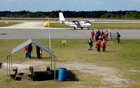 Deland Muni-sidney H Taylor Field Airport (DED) - Deland Airport , Florida boasts a very vibrant Skydiving  Club - by Terry Fletcher