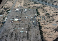 Gila River Memorial Airport (34AZ) - view from Luscombe Silvaire - by J.G. Handelman