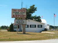 Tri-state Steuben County Airport (ANQ) - FBO with sign - by IndyPilot63