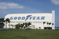 Pompano Beach Airpark Airport (PMP) - Goodyear Blimp hangar at Pompano Beach - by Florida Metal