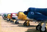 Denton Municipal Airport (DTO) - AT-6 line at CAF Airshow - by Zane Adams