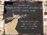 Santa Barbara Municipal Airport (SBA) - Fire Station memorial plaque  - by Mike Madrid