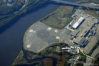 Sikorsky Heliport (JSD) - Sikorsky factory from 6000 feet above.  Family Day 2006. - by Dave G