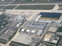 Wilmington Air Park Airport (ILN) - DHL Cargo ramp - by Bob Simmermon