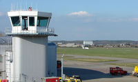 Southampton Airport - Controllers at Southampton ATC watch as a Brit Air ATR flight departs - by Terry Fletcher