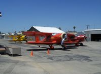 Santa Paula Airport (SZP) - Beech STAGGERWINGS at 2008 National Howard Fly-In (share identical radial engines) - by Doug Robertson