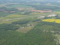 Madison Municipal Airport (IMS) - Looking NW from 2500' - Madison, Indiana - by Bob Simmermon