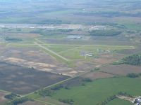 Marion Municipal Airport (MNN) - Looking S from 3500' - by Bob Simmermon