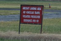 Air Park-dallas Airport (F69) - Don't drive over the runway! - by Timothy Aanerud