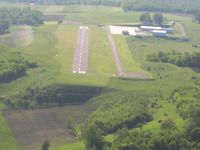 Wellsboro Johnston Airport (N38) - Safe terrain separation led to a high final approach. - by Bob Simmermon