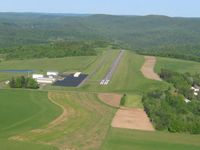 Wellsboro Johnston Airport (N38) - Looking down runway 28 - by Bob Simmermon