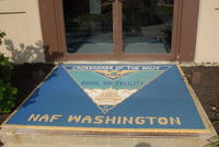 Joint Base Andrews Airport (ADW) - Welcome mat on land side of Naval Air Facility Washington DC on board Andrews AFB  - by J.G. Handelman
