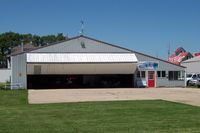 Cushing Field Ltd Airport (0C8) - A & M Airsport Hangar at Cushing - by William Hamrick