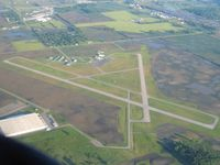 Marion Municipal Airport (MNN) - Looking NW from 3500' - by Bob Simmermon