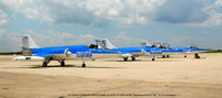 Joint Base Andrews Airport (ADW) - 3 Starfighters ready to taxi at NAF Washington - by J.G. Handelman