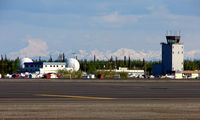 Fairbanks International Airport (FAI) - The view across Fairbanks East Ramp set against a beautiful backdrop - by Terry Fletcher