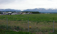 Palmer Municipal Airport (PAQ) - A general view of Palmer Municipal , Alaska with stored DC3s and C-119 Boxcars - by Terry Fletcher