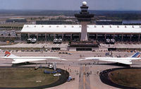 Washington Dulles International Airport (IAD) - 2 concordes that landed at dulles airport - by Luke K.