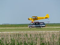 NONE Airport - WORLDS SMALLEST AIRPORT, J-3 LANDING AT SEWARD - by Gary Schenaman