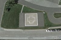 Regions Hospital Heliport (7MN1) - The suspected top of the helipad - by Alex Byland
